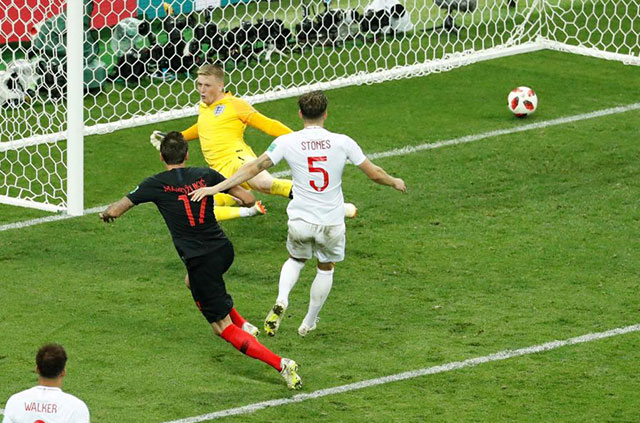 Manzukic ស៊ុត១គ្រាប់ឲ្យក្រូអាតវាយបកឈ្នះអង់គ្លេស២-១ឡើងវគ្គផ្តាច់ព្រ័ត FIFA World Cup 2018